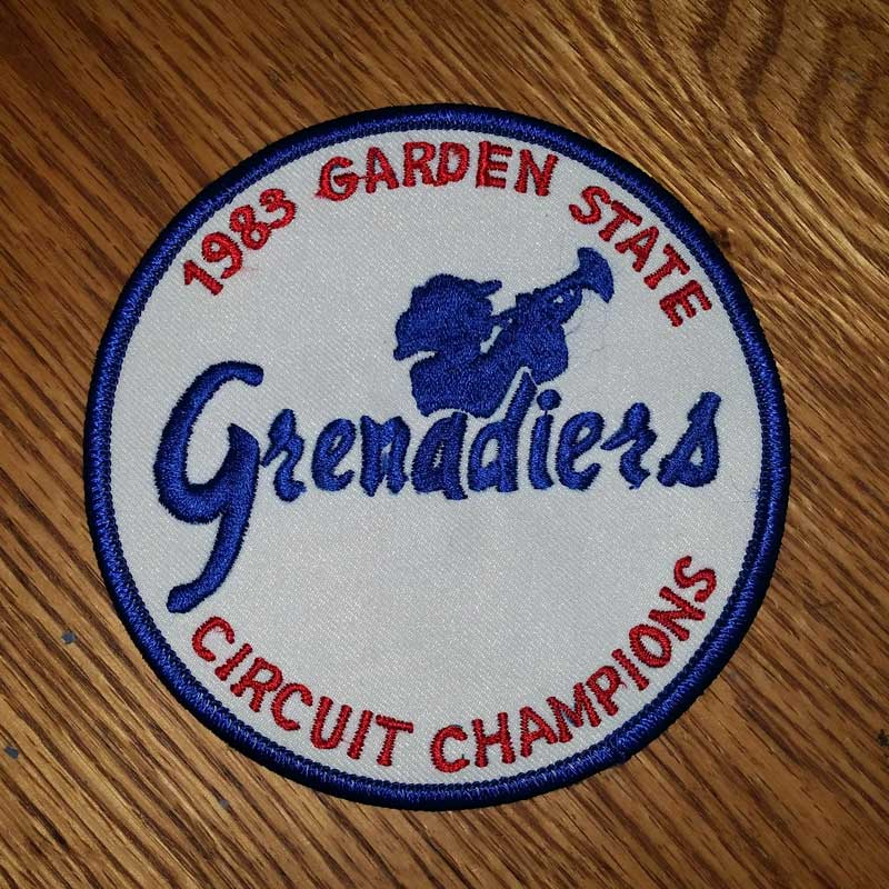 Grenadiers 1983 Garden State Circuit Champions Patch