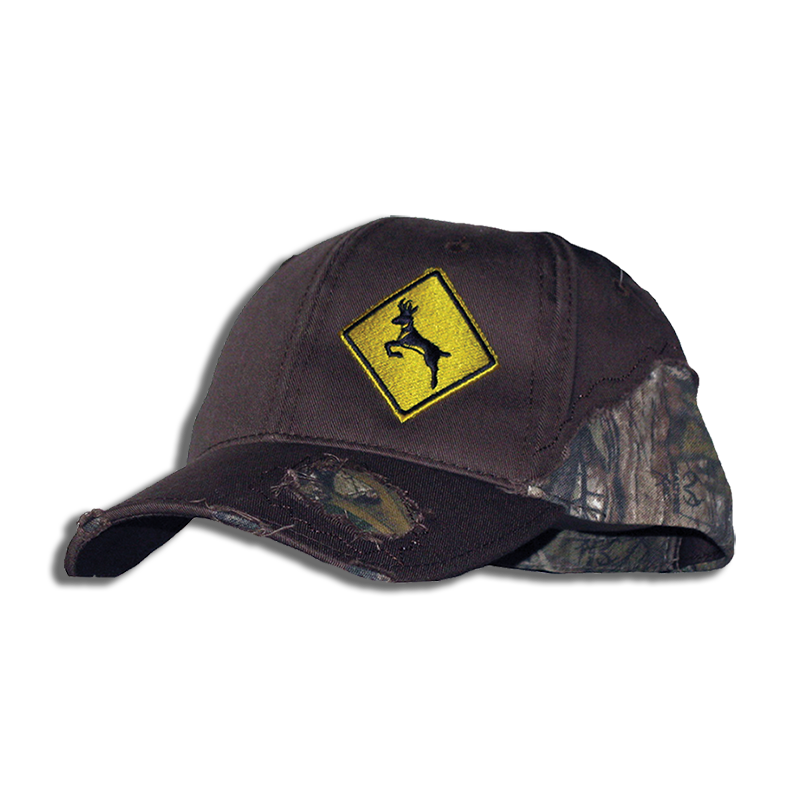 Deer Crossing Destroyed Camo Cap