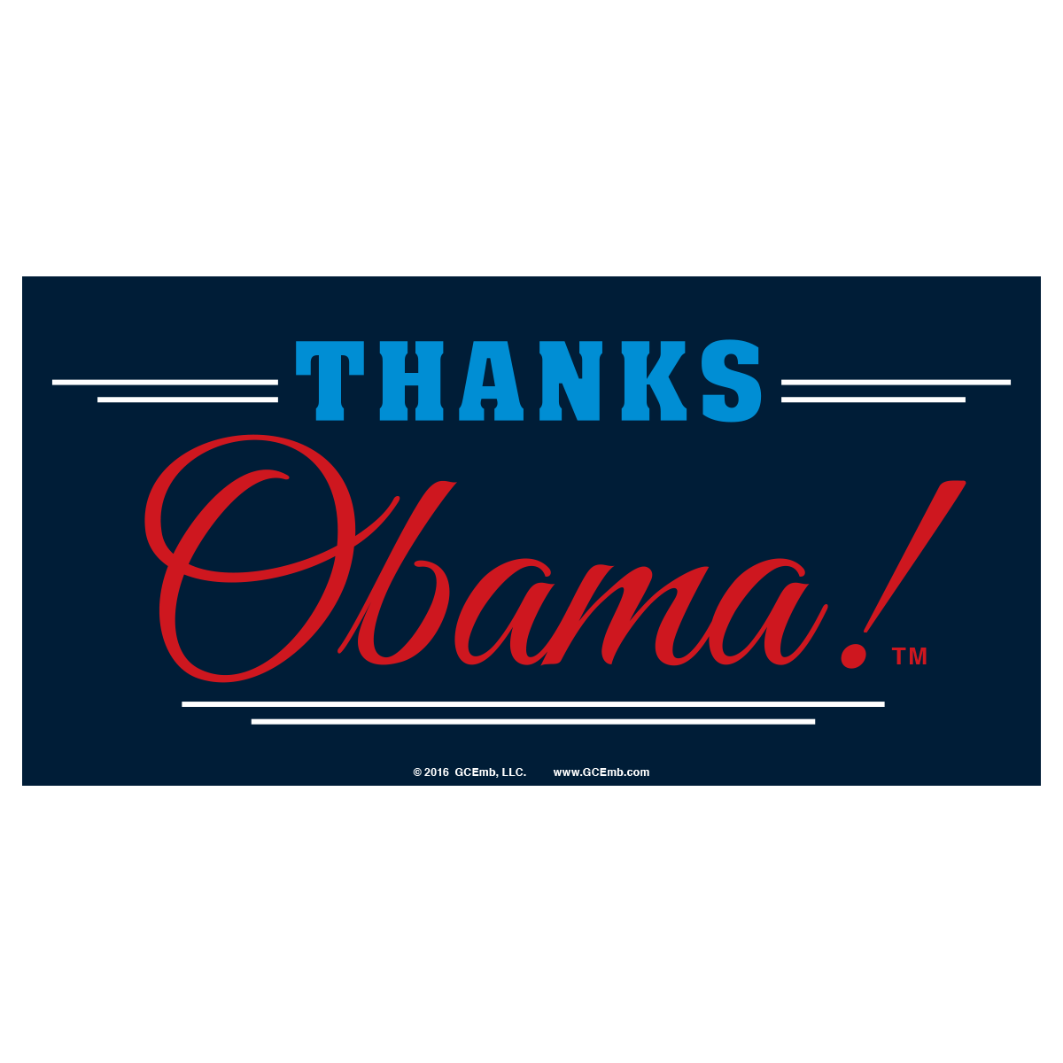 Thanks Obama! Removable Sticker